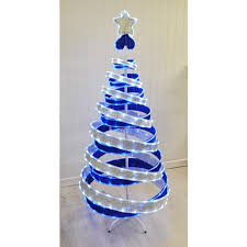led christmas tree up ribbon led christmas tree 180cm by kingfisher