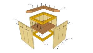 Standing Planter Box Plans by Wooden Planter Plans Howtospecialist How To Build Step By