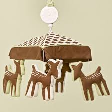 Deer Nursery Bedding Kids Line Willow Organic Musical Crib Mobile Maybe Replace These