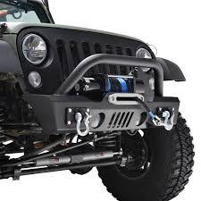 jeep winch bumper 07 16 jeep wrangler jk s3 stubby front bumper