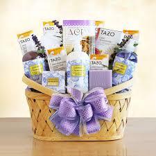 lavender gift basket the essence of lavender spa gift basket hayneedle