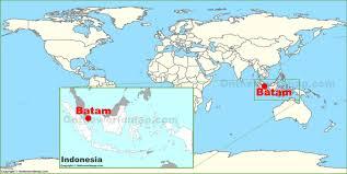 map batam batam on the world map