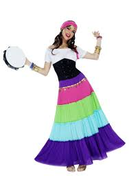 gypsy fortune teller halloween costume women u0027s vibrant gypsy costume