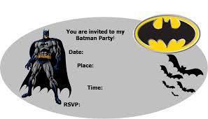 10 images batman invitations free printables free