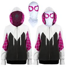 run from bad guys or just run errands with this spider gwen masked