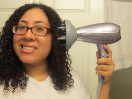 Hair Dryer Volume updated after wash curly hair routine with freida hair dryer