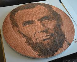 penny portrait of abraham lincoln metal crafts pinterest