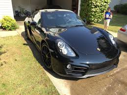 cayman porsche black 2015 cayman low miles manual triple black rennlist porsche