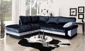 Corner Sofa Velvet Velvet Corner Sofa With Footstool Groupon Goods