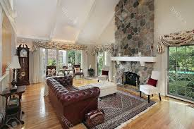stone veneer fireplace ideas rectangle white high gloss coffee