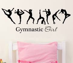 gymnastics wall murals reviews online shopping gymnastics wall free shipping pretty girl gymnastics ballerina dac flag mural wall decals warm home bedroom art deco wall stickers f 119