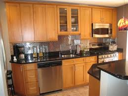 Kitchen Backsplash Cherry Cabinets by What Color Granite Goes With White Subway Tile Backsplash Ak