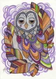 5 best images of colorful owl painting 2 owls painting colorful