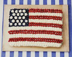 White Flag With Red Cross On Blue Square American Flag Cake Recipe For Patriotic Holidays