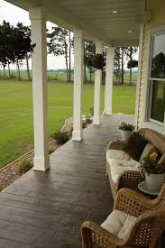 stamped concrete driveway porch traditional with stamped concrete