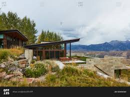 Mountain Home Exteriors Mountain Home Exterior In Wyoming Stock Photo Offset