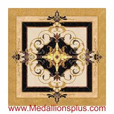 neptune square 36 waterjet floor inlay medallionsplus