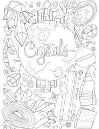 coloring book shadows witchcrafty