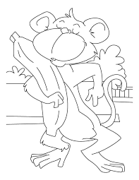 banana loving monkey coloring pages download free banana loving
