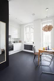 Cement Floor Paint Minimal Apartment In Poland Painted Concrete Floors Paint