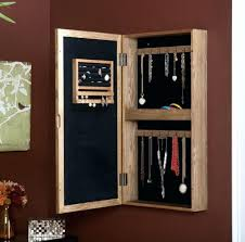 Jewelry Armoire Over The Door Mirror Cabinet by Wall Ideas Black Oval Wall Mount Jewelry Armoire Contemporary