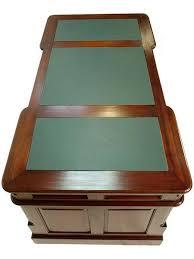 bureau de style bureau de style anglais 140 cm en acajou avec sous vert oxford