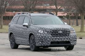 subaru viziv 7 spied 2018 subaru ascent three row crossover with production