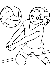 14 coloring pictures volleyball print color craft