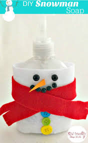 diy snowman soap dispenser craft winter fun dollar stores and