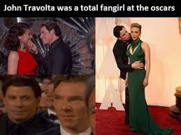 Meme John Travolta - john travolta at the oscars