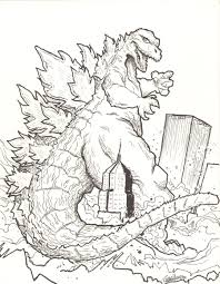 godzilla coloring page godzilla coloring pages to download and
