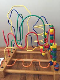 wooden bead toy table wired diy bead maze activities for children clay and crafts