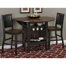 braden birch 48 u201d round counter height table set with drop down