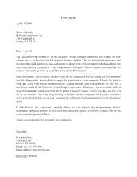 best internship cover letter sample image collections cover