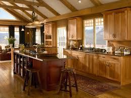 kitchen fresh kitchen theme with hickory kitchen cabinets