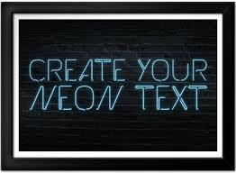 Light Words Neon Text Generator Postergen Com