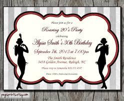roaring 20s invitation 1920s birthday invitation printable on