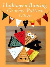 halloween bunting crochet pattern sayjai amigurumi crochet