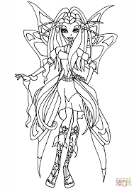 winx club diana coloring page free printable coloring pages