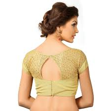 golden blouse buy golden tissue blouse with sleeve on shoulder and back