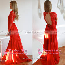 long sleeve red prom dresses trendy open back prom dresses scoop