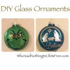 diy glass glitter ornaments using a silhouette machine who said