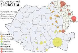 Moldova Map Places Named Slobozia In Romania And Moldova Maps U0026 Cartographic