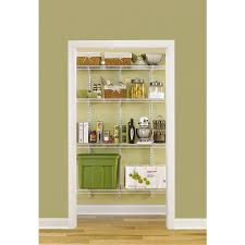 Tips Rubbermaid Closet Kit Lowes Pantry In Laundry Room Shop Rubbermaid Fasttrack 4 Ft