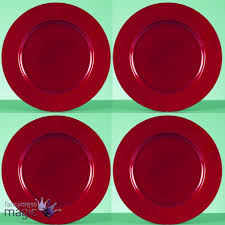 33cm large charger plate under plates christmas xmas dinner