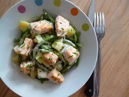 cuisiner des haricots verts surgel salade de pommes de terre et haricots verts au saumon frais
