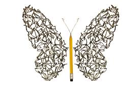pen sketch scribble made butterfly stock illustration image