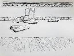 dry japanese garden sketch by langeboom on deviantart