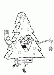 spongebob christmas coloring pages learntoride