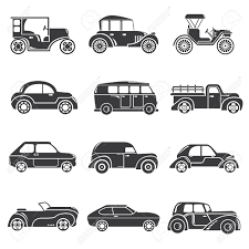 vintage cars clipart 24427402 vintage car icons classic cars stock vector jpg 1300